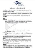 DANPALON – CLEANING INSTRUCTIONS