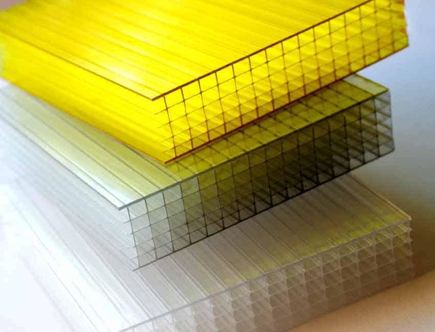 Plastic facade panels
