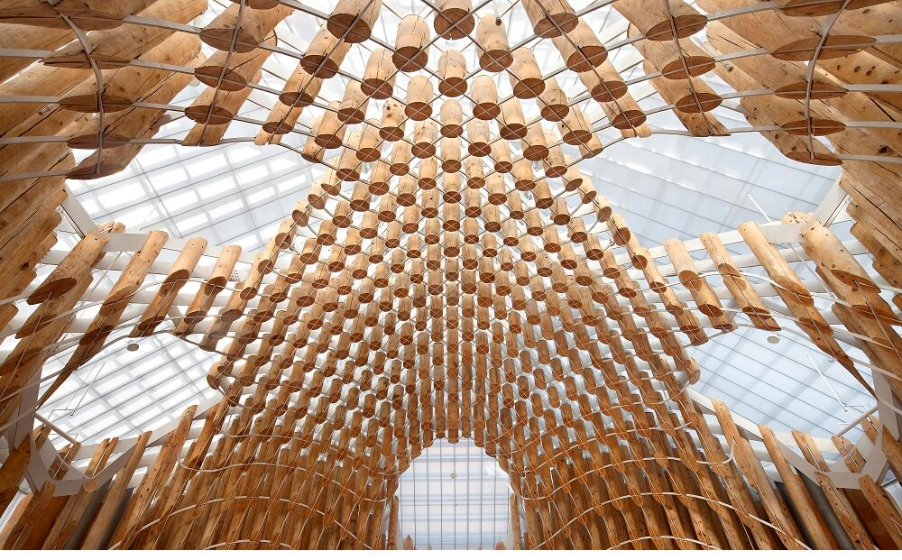 Lucernarios construidos con Danpalon® en una iglesia de Corea del Sur